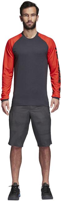 adidas TERREX Trail Cross Camiseta de manga larga Hombre grisnaranja